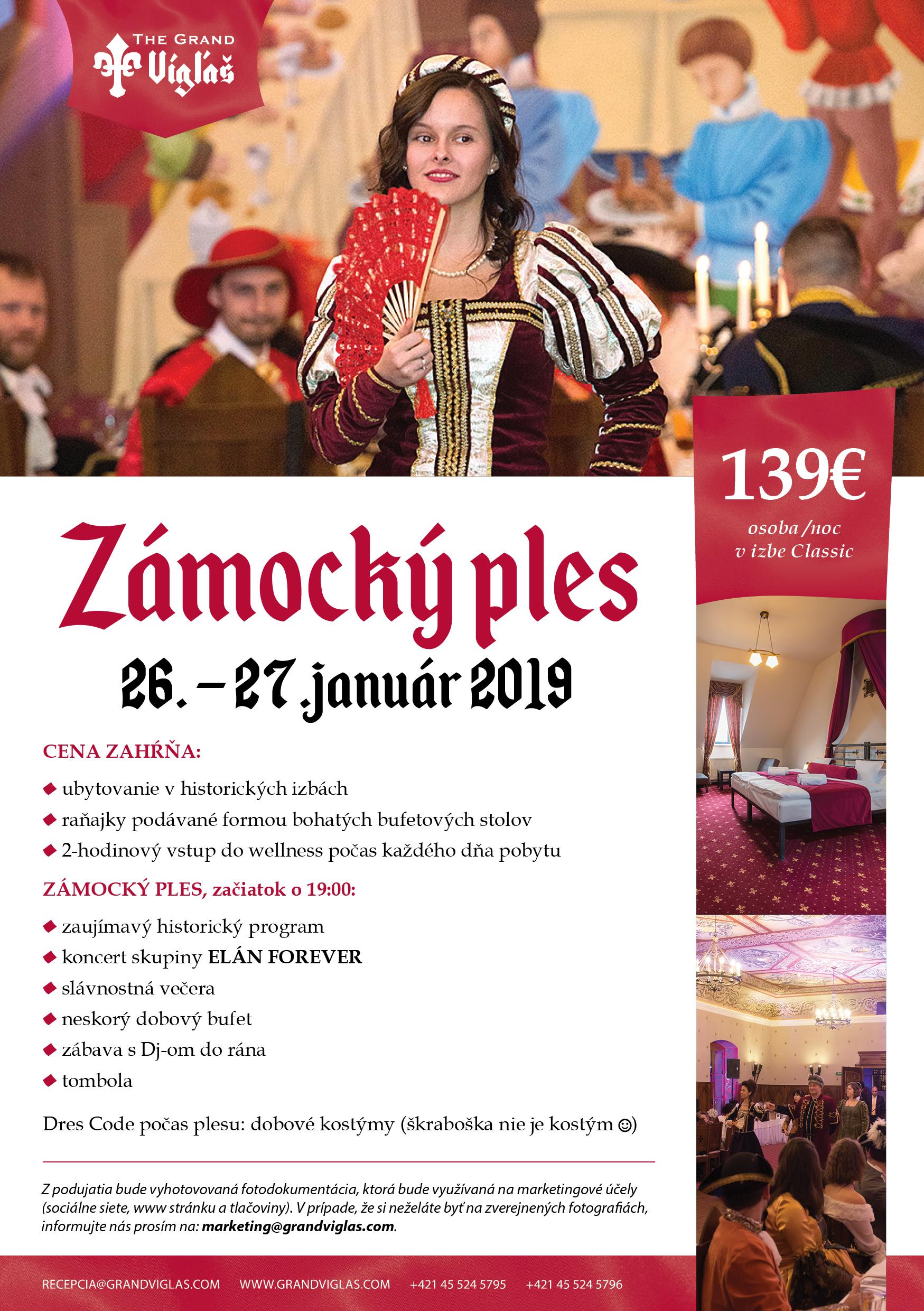 Zámocký ples 26.-27.01.2019