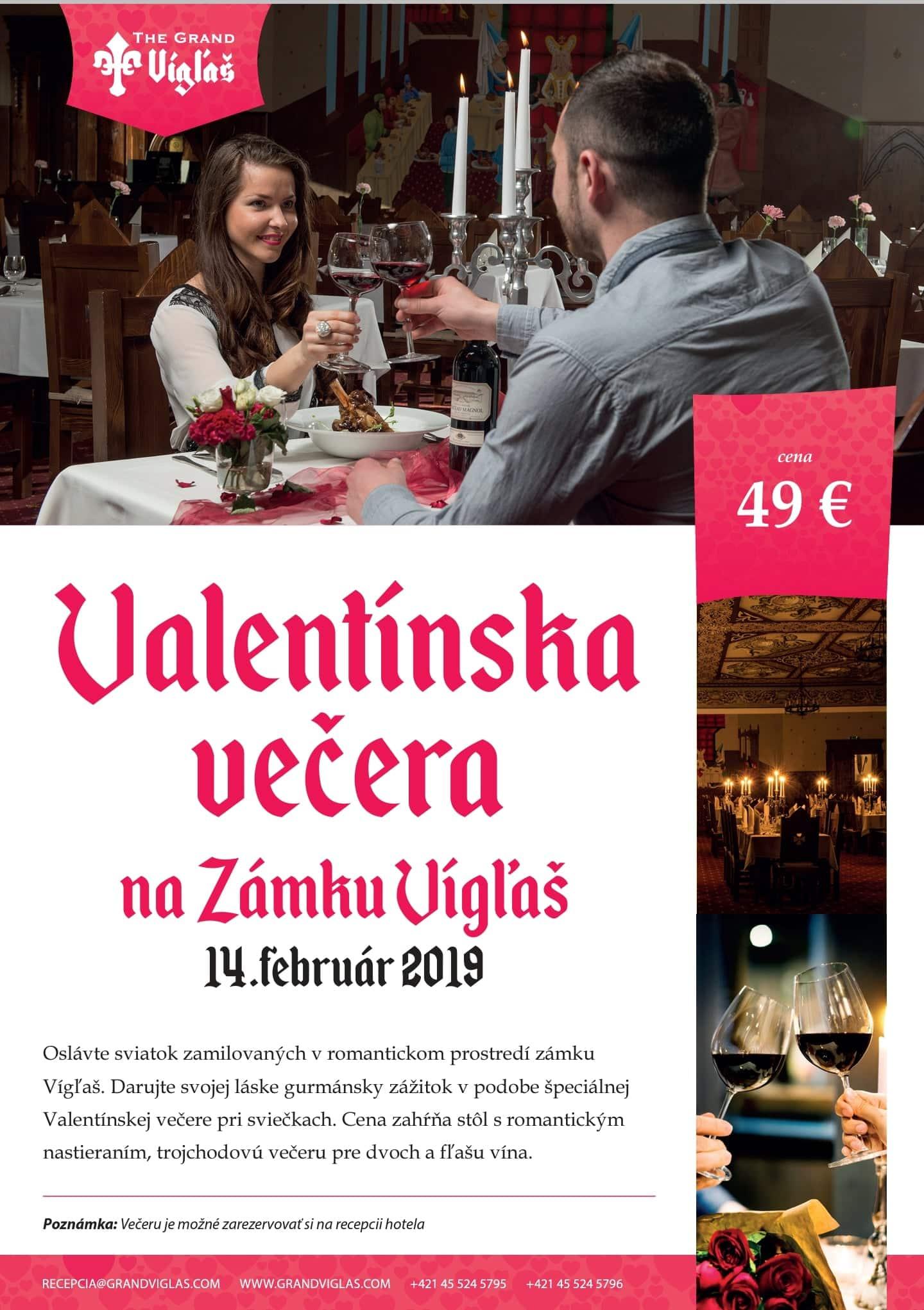 Valentínska večera 14.02.2019